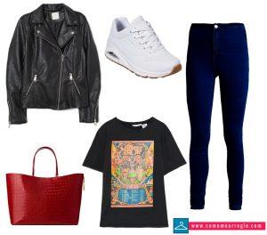 Outfit para chica estilo rock para bailar