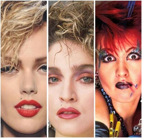 Maquillaje y peinados de los ochenta